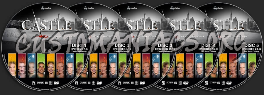 Castle - Season 8 dvd label - DVD Covers & Labels by Customaniacs