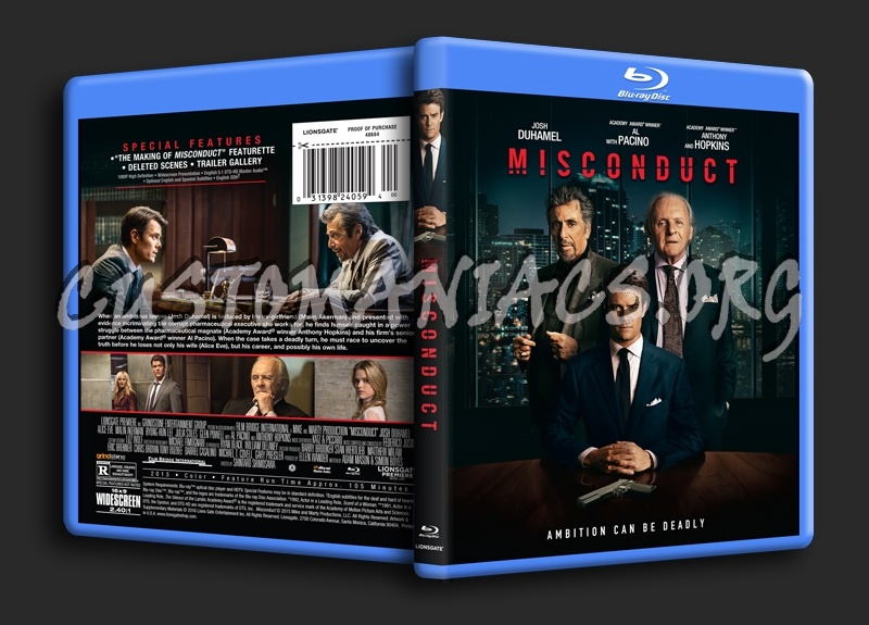 Misconduct blu-ray cover