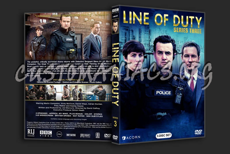 Line of Duty - Series 3 dvd cover