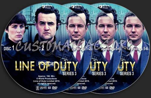 Line of Duty - Series 3 dvd label