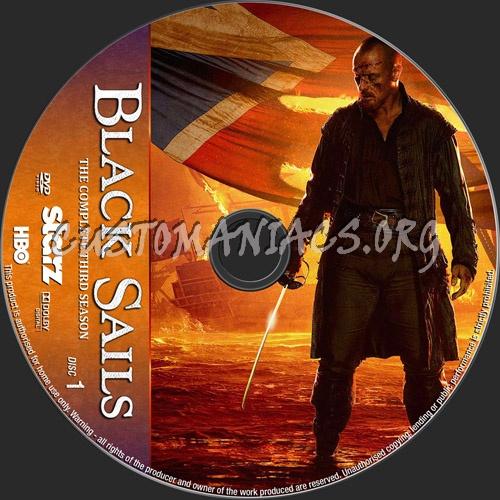 Black Sails Season 3 dvd label