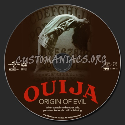 Ouija: Origin Of Evil dvd label