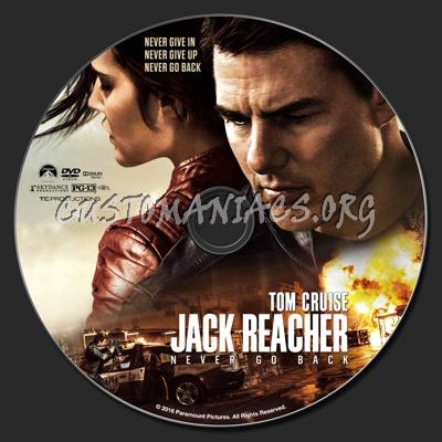 Jack Reacher: Never Go Back (aka Jack Reacher 2) dvd label