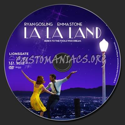 La La Land dvd label