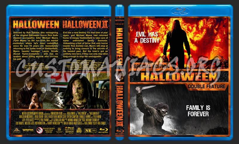 Halloween / Halloween II Double Feature blu-ray cover