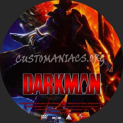Darkman Collection dvd label