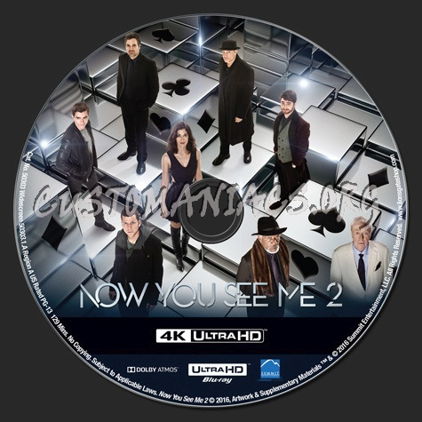 Now You See Me 2 4K blu-ray label