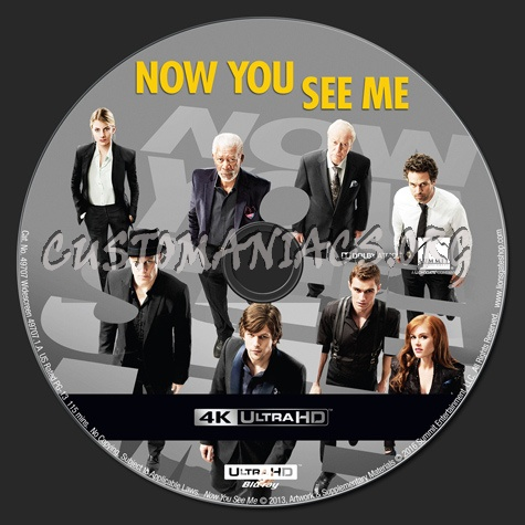 Now You See Me 4K blu-ray label