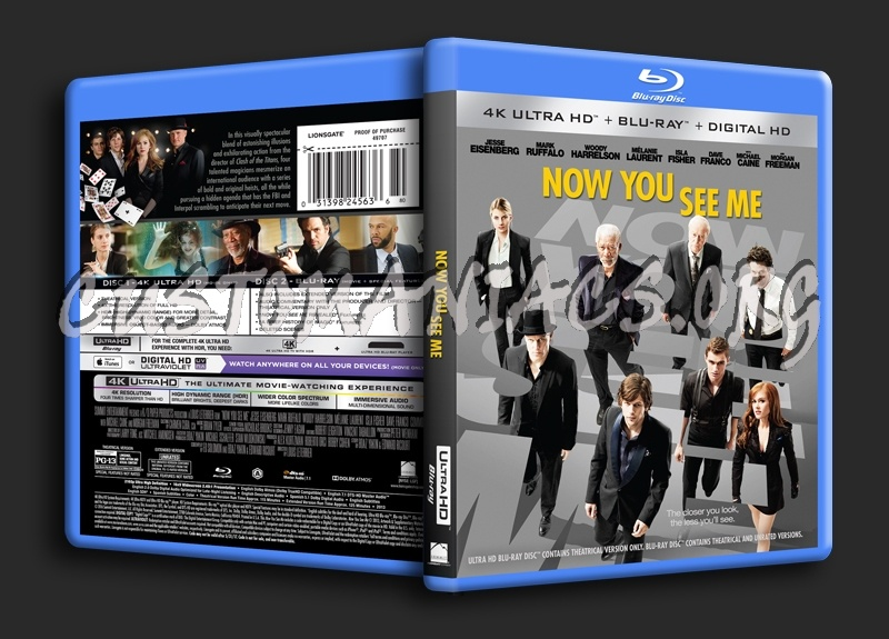 Now You See Me 4K blu-ray cover