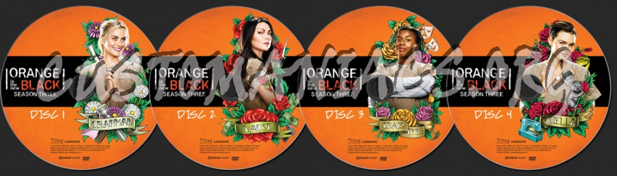 Orange is the New Black Season 3 dvd label