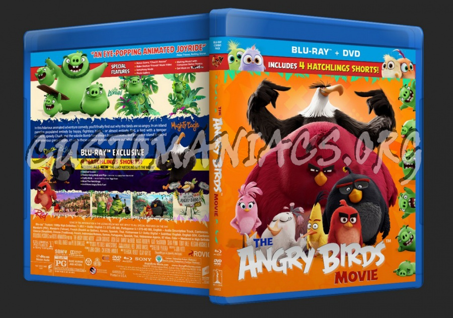 Angry Birds Movie Blu Ray Cover Dvd Covers Labels By