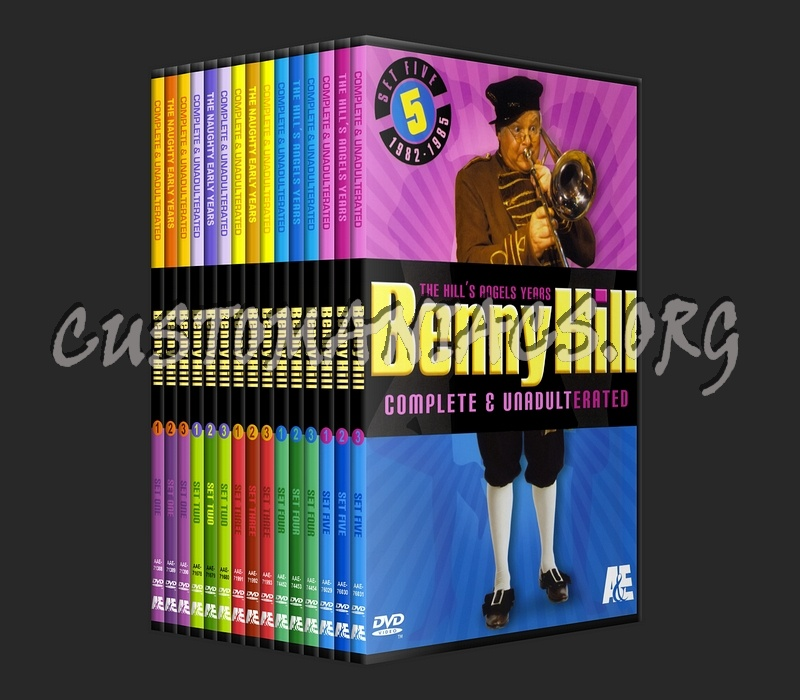 Benny hill naughty early years box set dvd cover dvd covers amp labels