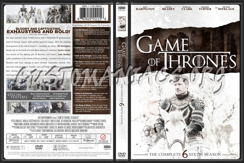 Game Of Thrones Season 6 Dvd Cover Dvd Covers Labels By