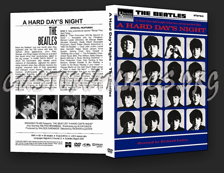 The Beatles - A Hard Day's Night dvd cover