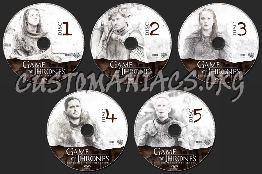 Game of Thrones Season 6 dvd label