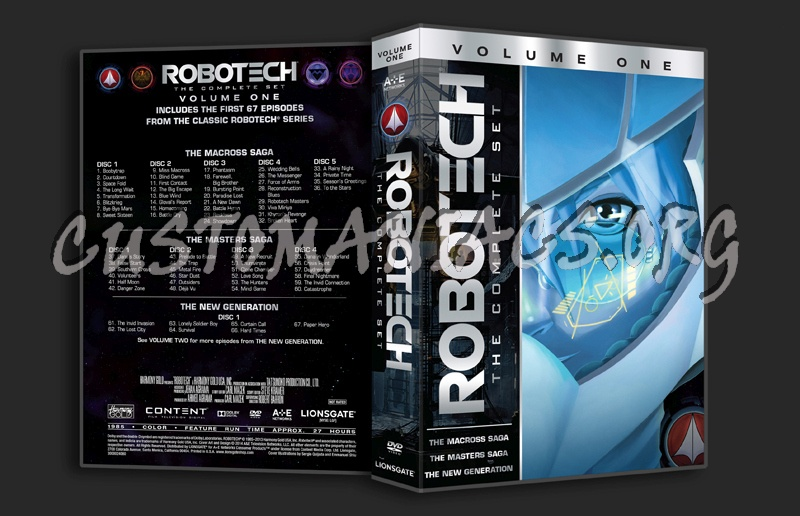 Robotech The Complete Set Volume 1 dvd cover