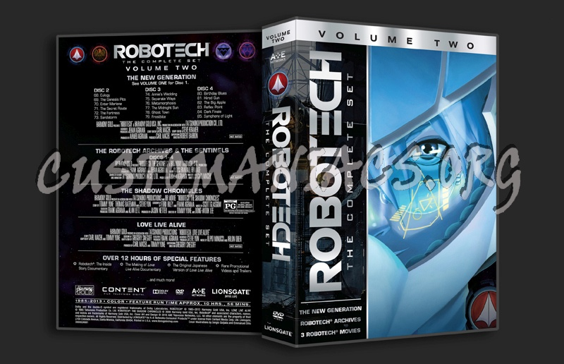 Robotech The Complete Set Volume 2 dvd cover