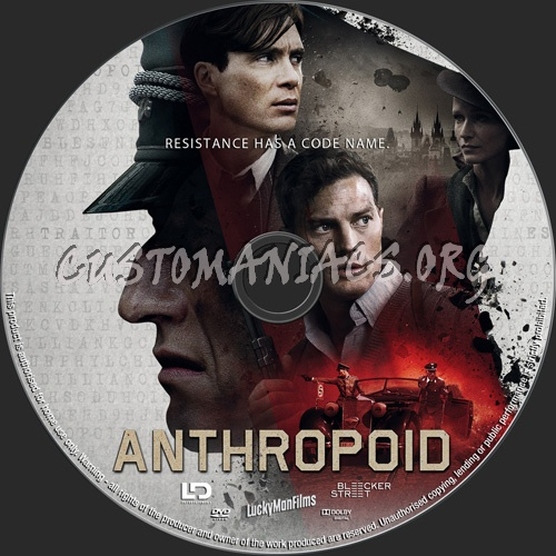 Anthropoid dvd label