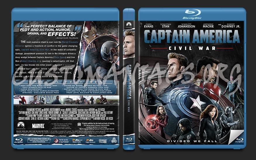 Captain America: Civil War blu-ray cover