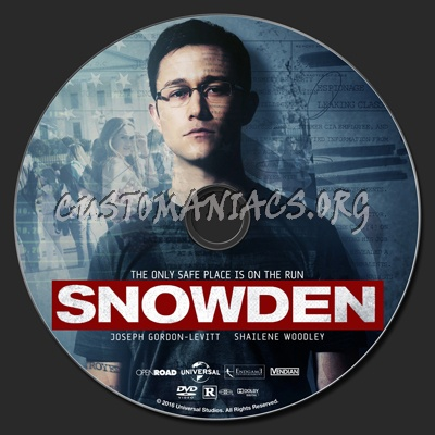Snowden dvd label