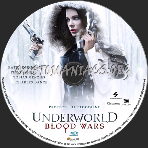 Underworld Blood Wars blu-ray label