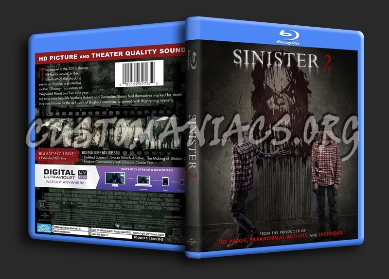 Sinister 2 blu-ray cover