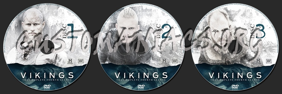Vikings Season 4 dvd label