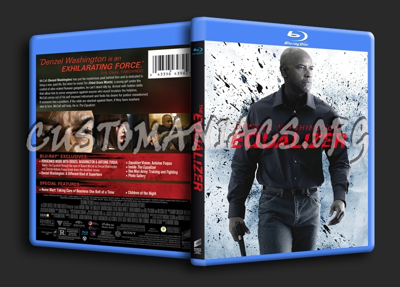 The Equalizer blu-ray cover