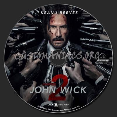 John Wick: Chapter 2 blu-ray label