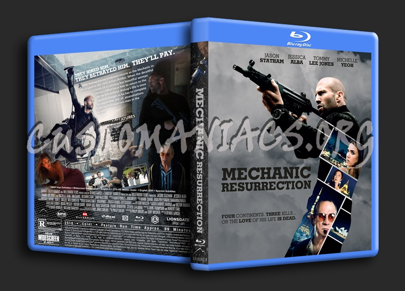Mechanic: Resurrection blu-ray cover