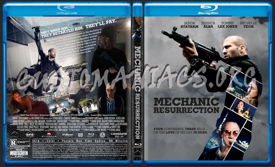Mechanic: Resurrection blu-ray cover