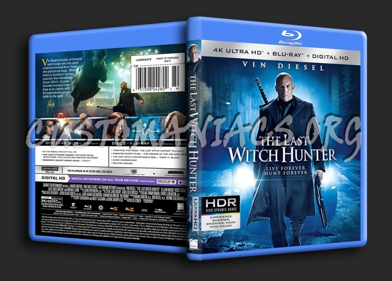 The Last Witch Hunter 4K blu-ray cover