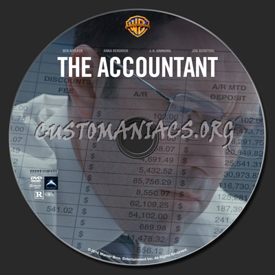 The Accountant dvd label