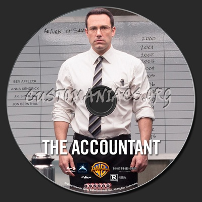 The Accountant blu-ray label