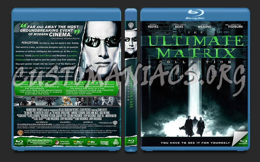 The Matrix Collection blu-ray cover