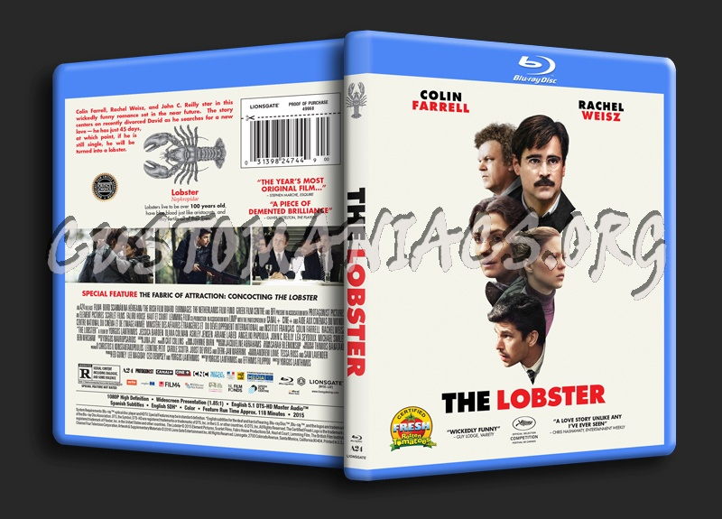 The Lobster blu-ray cover