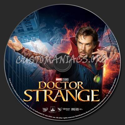 Doctor Strange dvd label