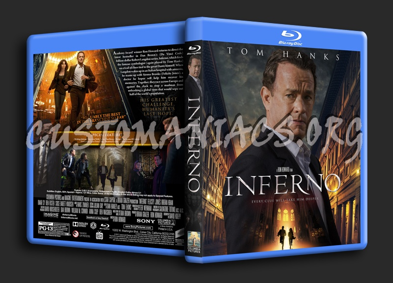 Inferno (2016) blu-ray cover