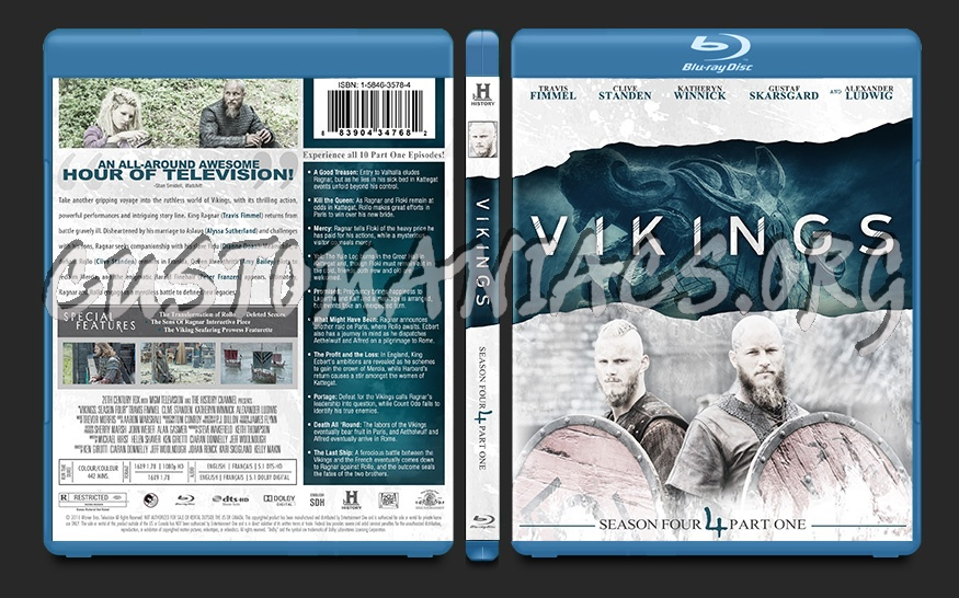 Vikings Season 4 Part 1 blu-ray cover - DVD Covers & Labels