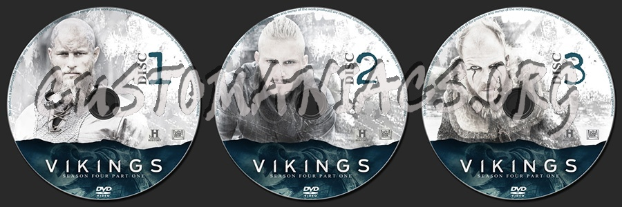 Vikings Season 4 Part 1 dvd label
