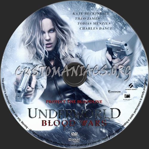 Underworld Blood Wars dvd label