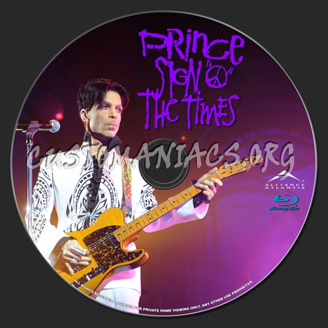 Prince: Sign 'o' the Times blu-ray label