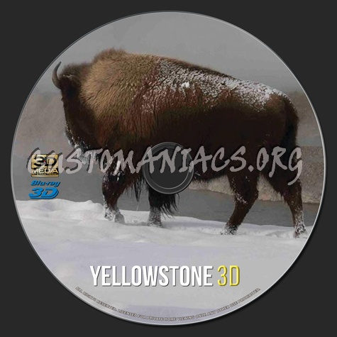 Yellowstone 3D blu-ray label