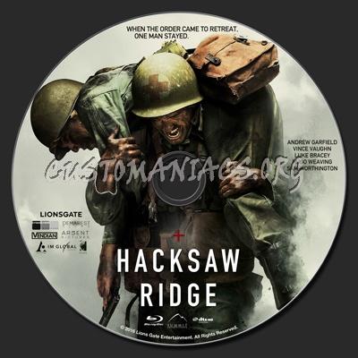 Hacksaw Ridge blu-ray label