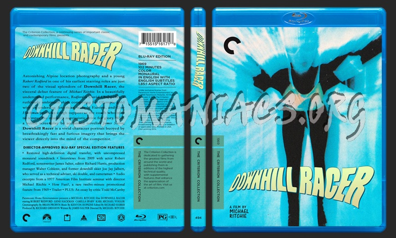 494 - Downhill Racer blu-ray cover