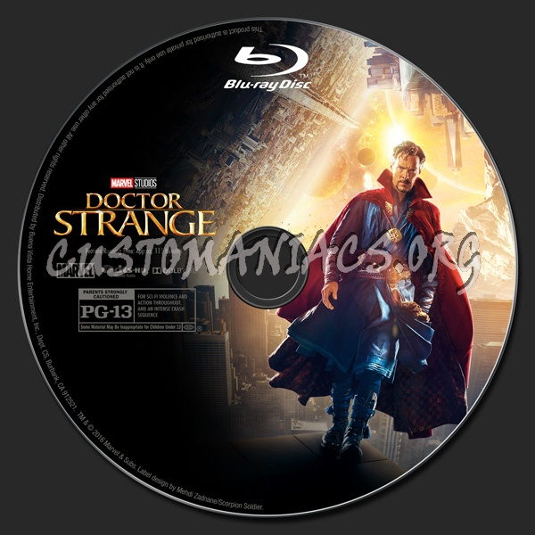 Doctor Strange (2D/3D/4K) blu-ray label
