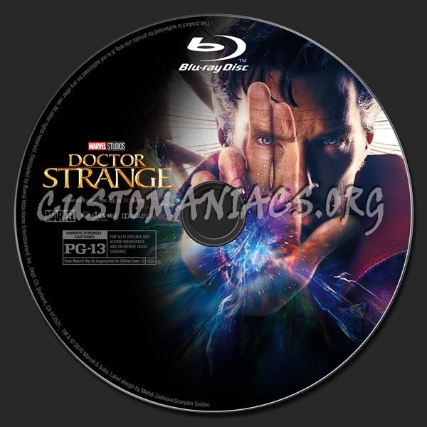 Doctor Strange (2D/3D/4K) blu-ray label