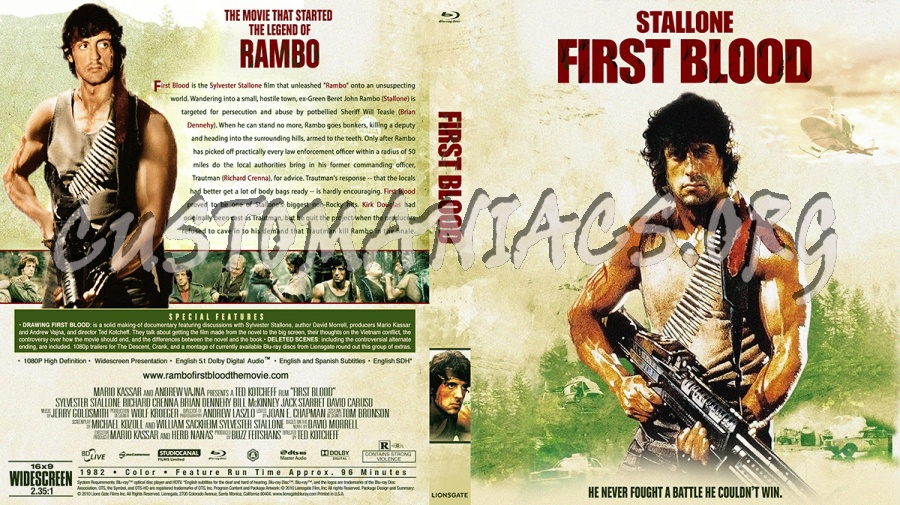 Rambo First Blood blu-ray cover