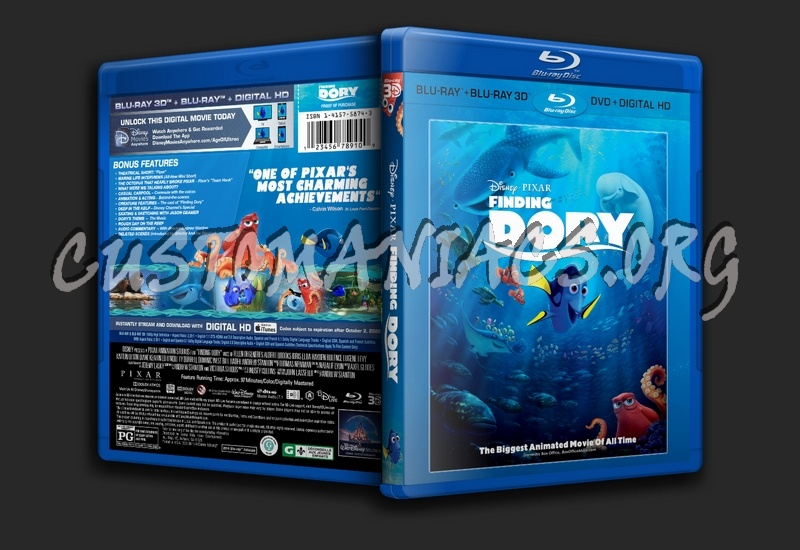 Finding Dory 3D blu-ray cover