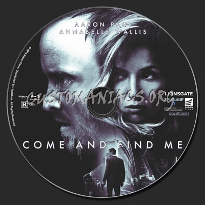 Come And Find Me blu-ray label